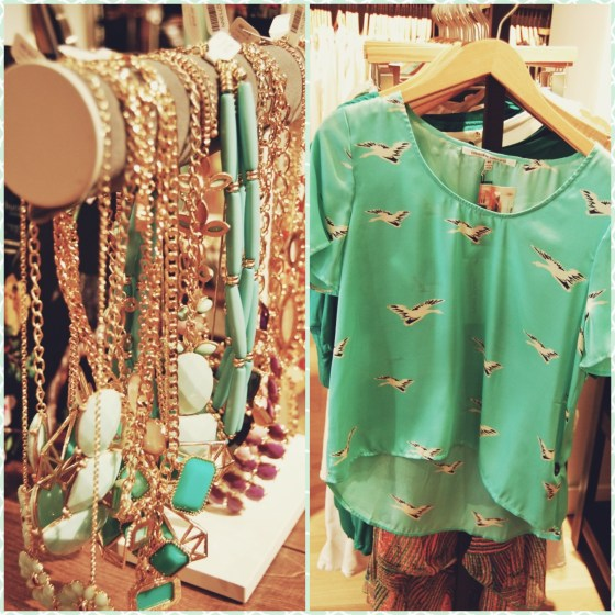 mint bird shirt