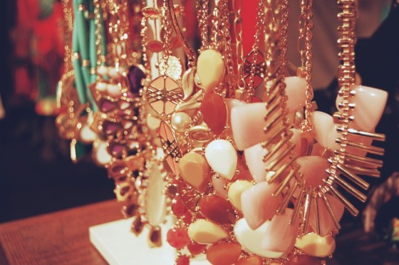 pastel statement necklaces