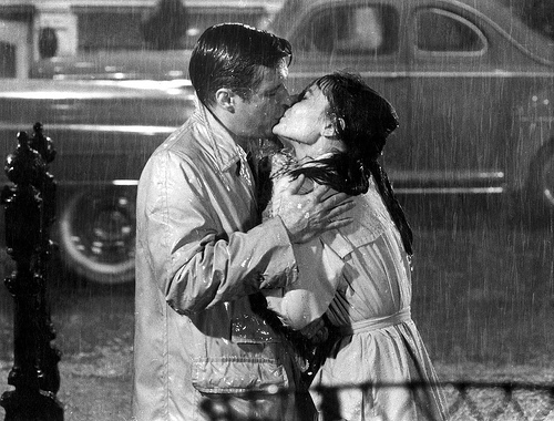 breakfast at tiffany's rain scene