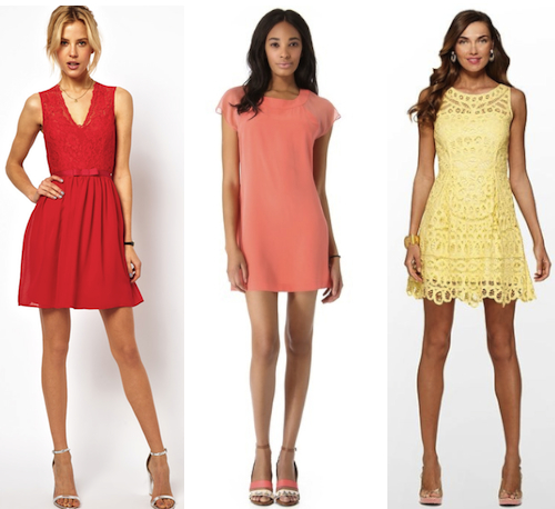 red orange yellow cocktail dresses