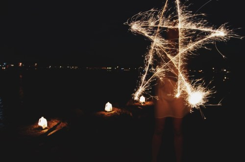 how to make shapes with sparkler