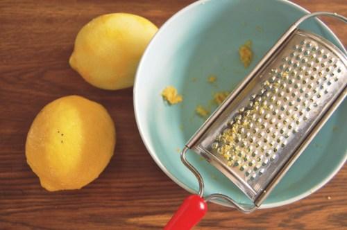 fresh lemon zest