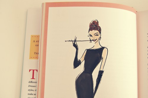 audrey hepburn breakfast at tiffany's fashion illustration
