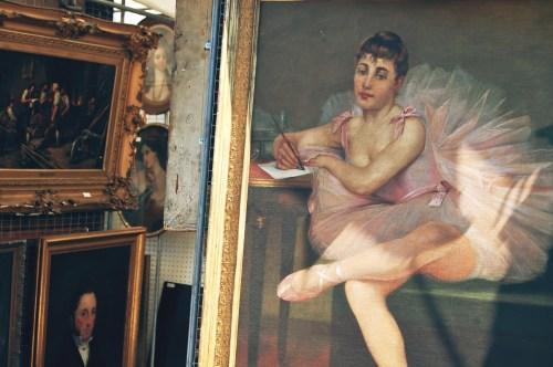 vintage dancer paintings; ballerina