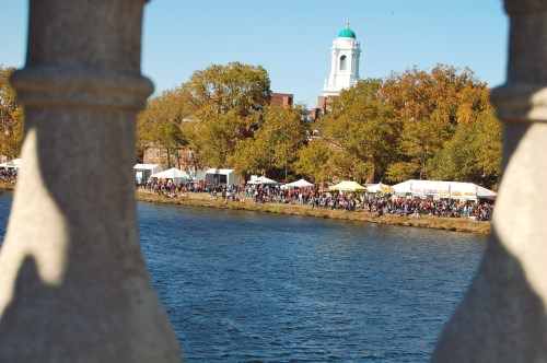 watching the head of the charles from the bridges