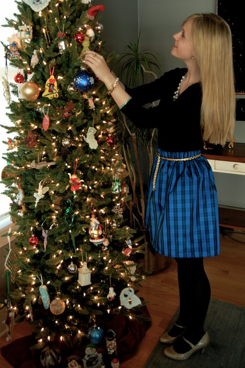 Christmas Blue Plaid