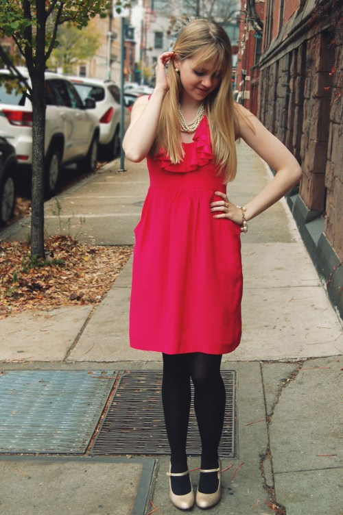 Britt Ryan Red Ruffle Dress