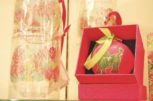 Lilly Pulitzer Preppy Christmas Ornaments