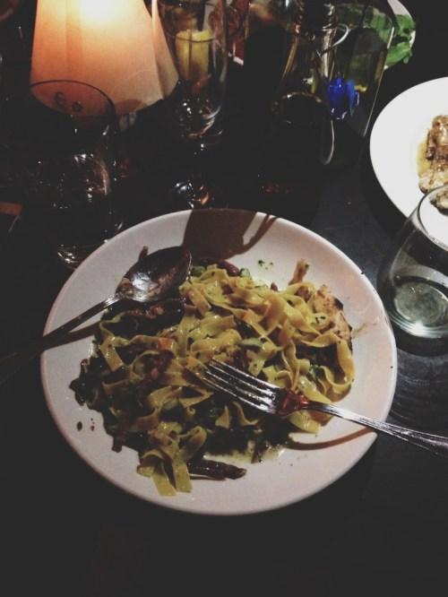 Asparagus Prosciutto Parmigiano Pasta