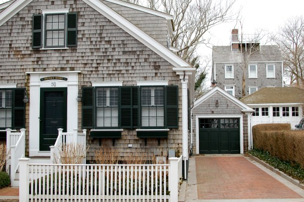 Green shutters Nantucket cottage