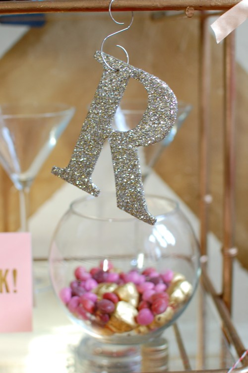 Glitter Garland Letters