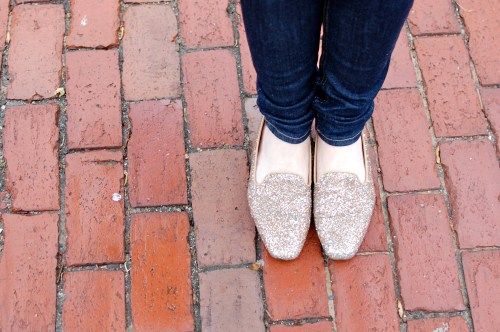 Glitter Loafers // J.Crew