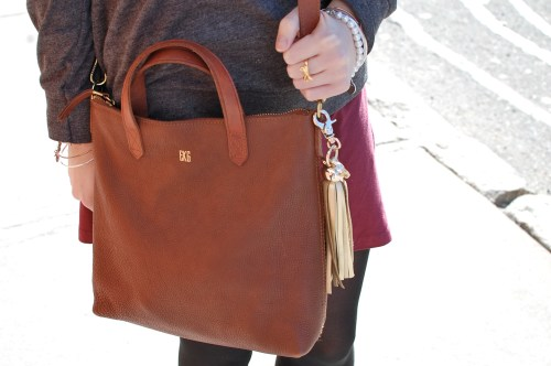 Madewell Monogrammed Leather Bag
