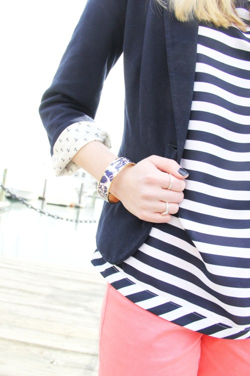 Navy Anchor Blazer