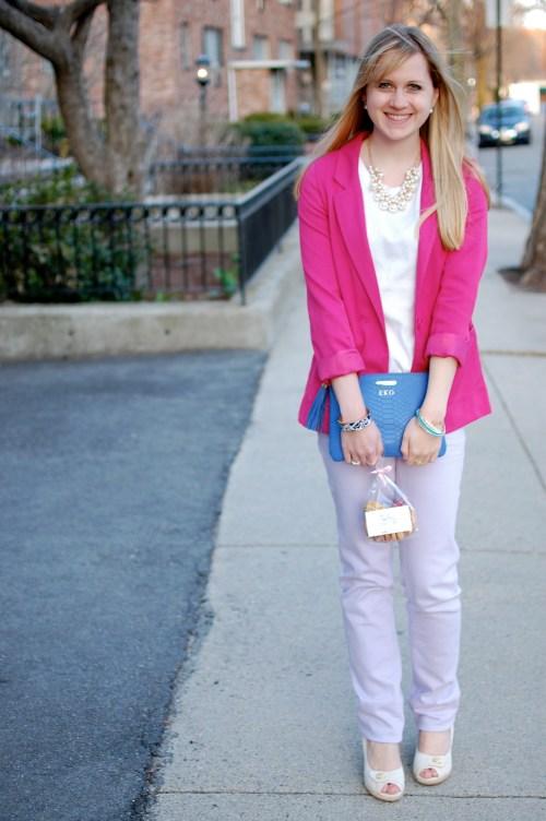 Pink Blazer // Lavender Pants