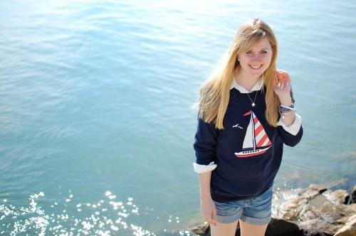 Nautical Sailboat Sweater