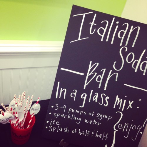 Italian Soda Bar Party
