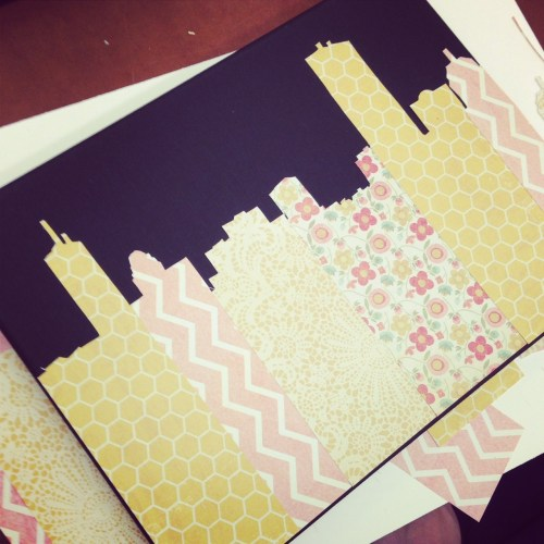 Boston Skyline Paper Craft
