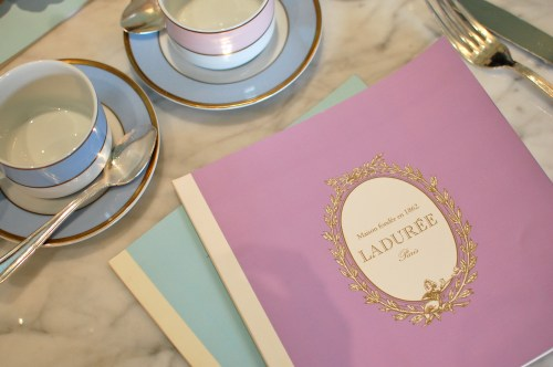 Laduree NYC Menu