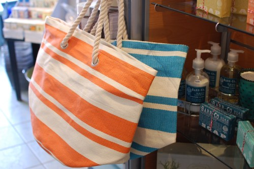 Striped Rope Beach Bags