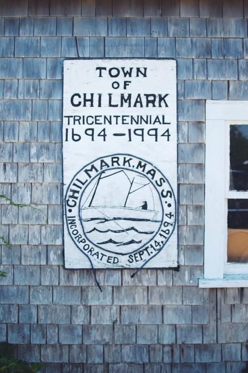 Chilmark town sign