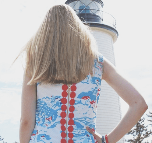 Lilly Pulitzer Lighthouse Print