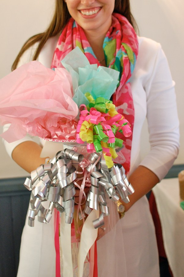 how to make a bridal shower bouquet