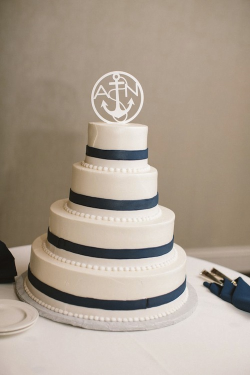 Nautical Wedding Cake | Zac Wolf Photography