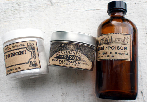 Free Vintage Poison Printable Halloween Apothecary Labels