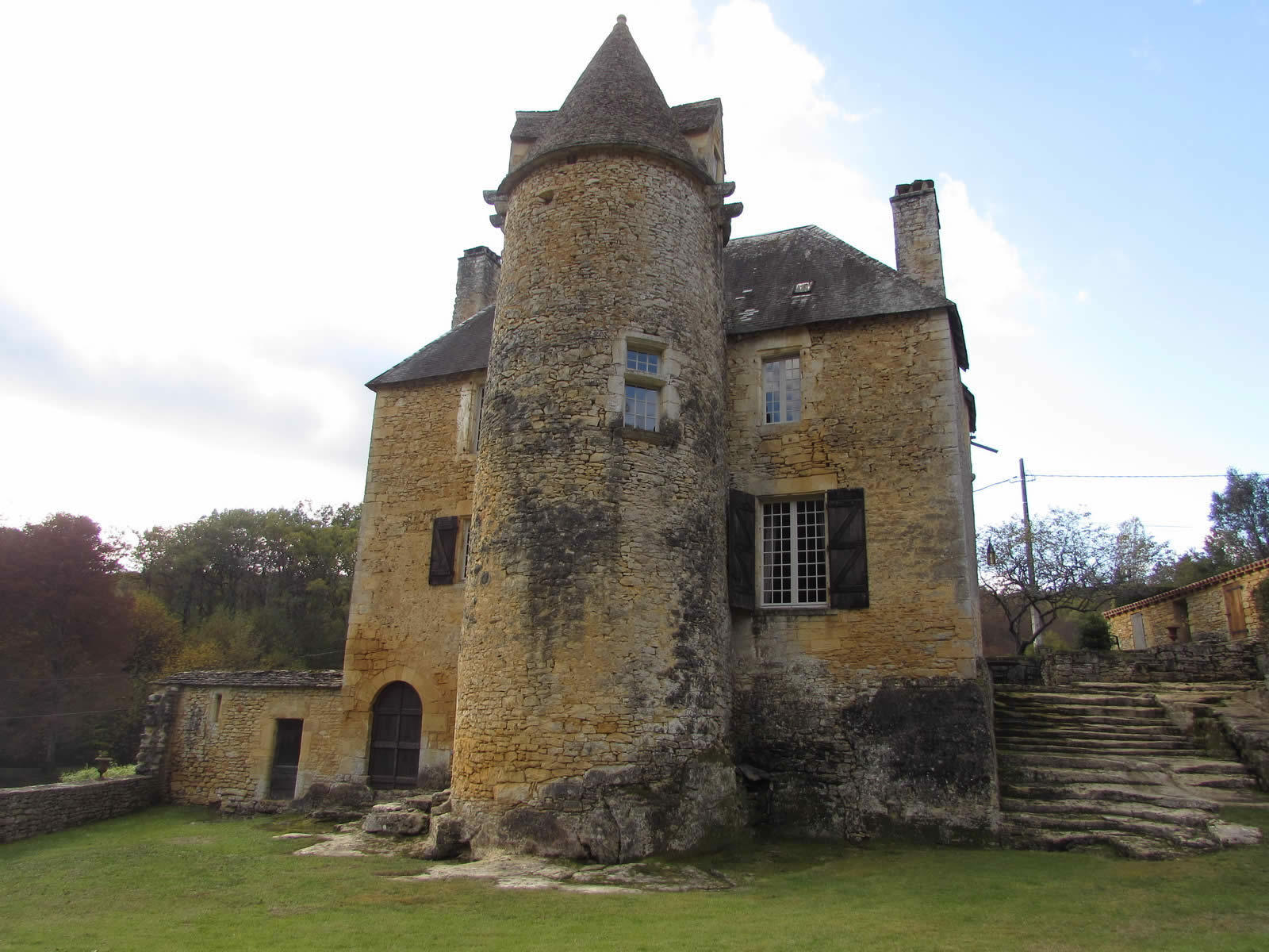 Cheminées Park Pierre Authentic Chateau With Stone Fireplace And 11 Hectares Of