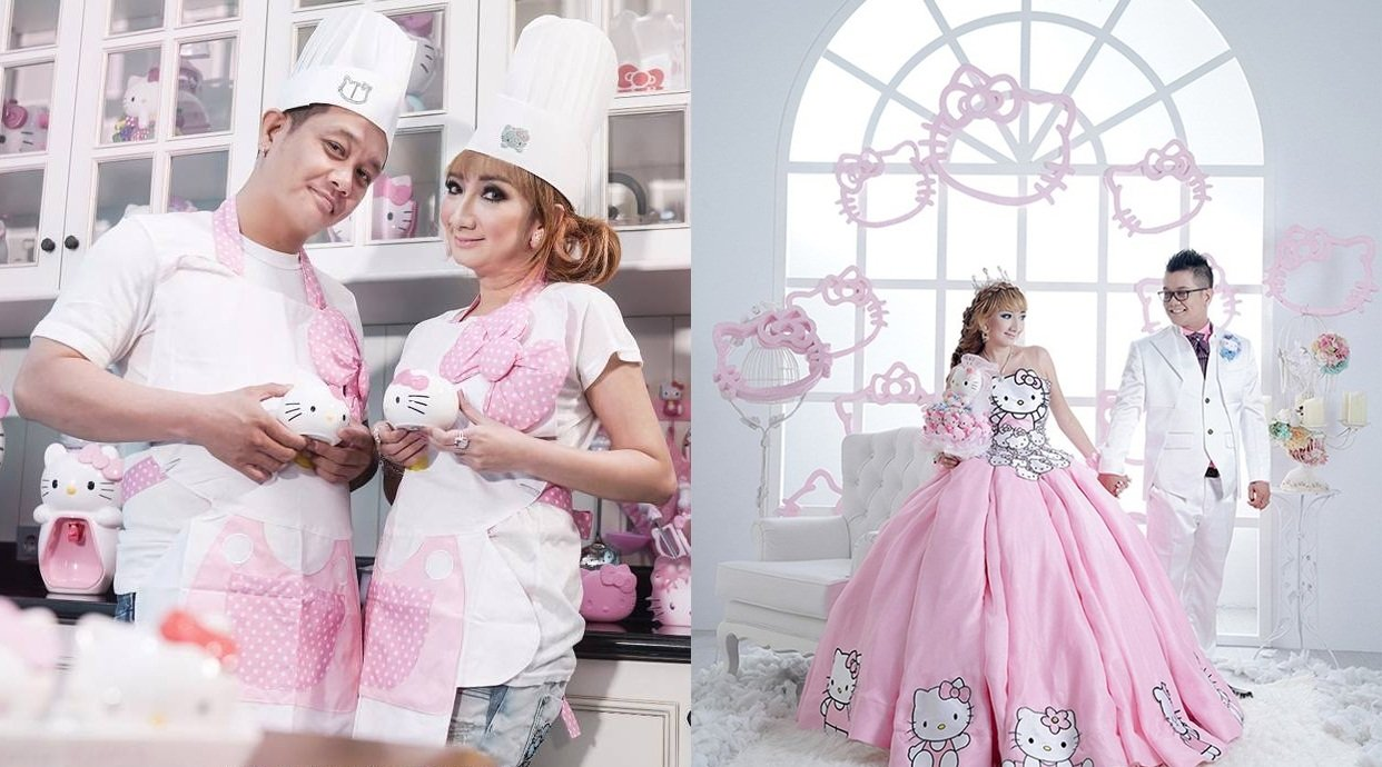 Serba Hello Kitty 15 Gaya Pernikahan Unik Serba Pink A La Hello Kitty Sobeghin News