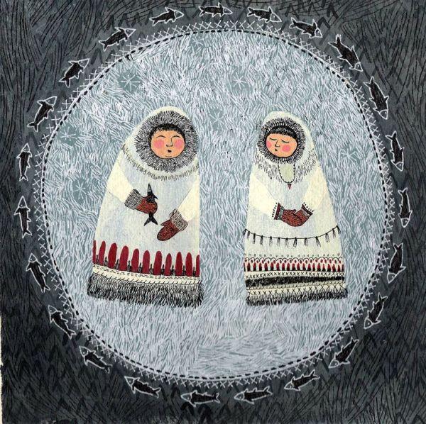 Эскимосы иллюстрация