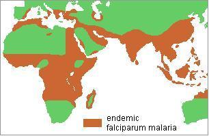 Mapa Malaria