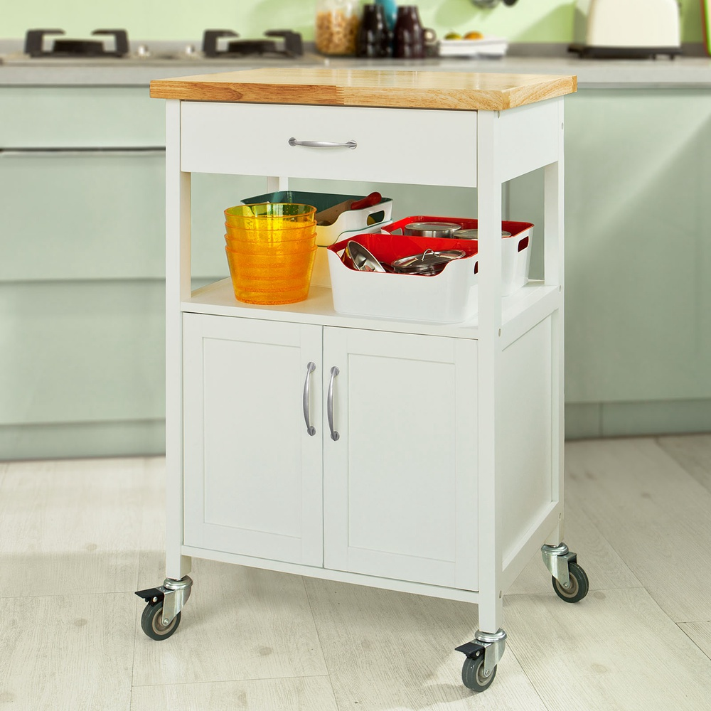 Sobuy Shop Details About Sobuy Kitchen Trolley Cart With Doors Home Storage Cabinet White Fkw22 Wn Uk