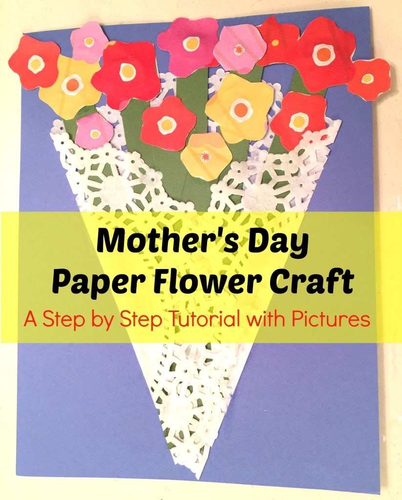 Mother 39 S Day Paper Flower Craft Step By Step Tutorial With