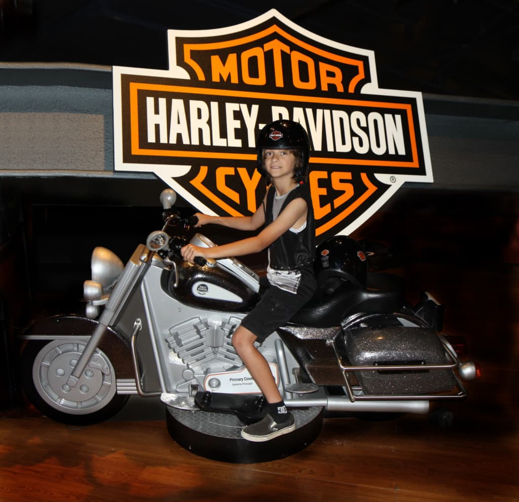Check out the Hands-On Harley-Davidson™ exhibition at the Discovery Cube OC in Santa Ana, CA. This interactive experience illustrates science, technology, engineering and math (STEM) concepts through a one-of-a-kind exhibit that lets kids Dream It! Build it!… and Ride It!