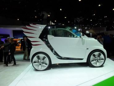 Jeremy Scott's wild smartcar fortwo on display at the LA Auto Show