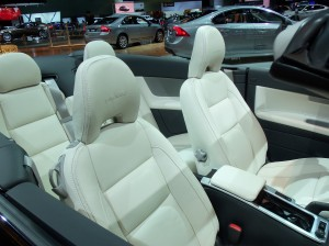 Interior of Volvo C70 at LA Auto Show