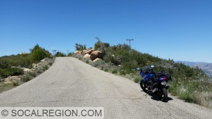 Riding my motorcycle along Camino Cielo above Santa Barbara, CA.