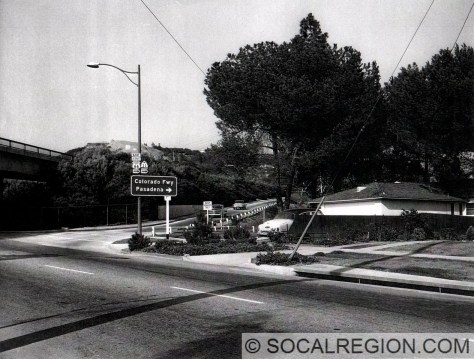 Freeway entrance on Figueroa St in the late 1950's.