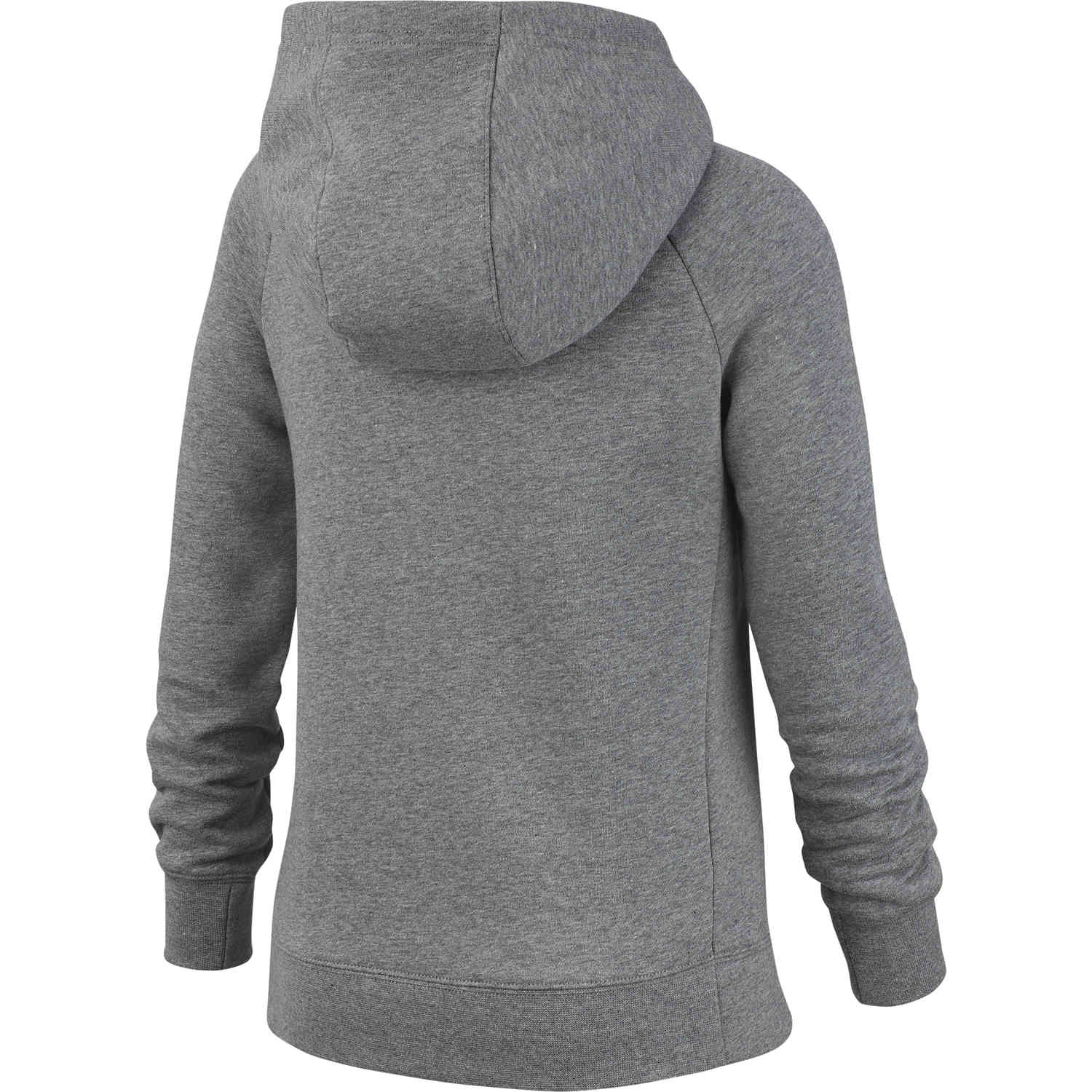 Nike Hoodie Carbon Heather Girls Nike Fleece Full Zip Hoodie Carbon Heather Soccerpro