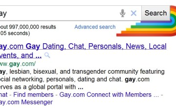 Google Honors LGBT Month in Search Result Pages