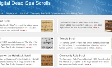 Google Publishes Dead Sea Scrolls Online - Dead Sea Scrolls, The Official Google Blog, The Israel Museum, Google