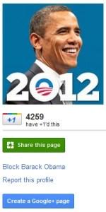 Obama 2012 Campaign Extends Online Presence, Creates Google+ Page - Obama 2012 campaign, Obama Google+ page, Barack Obama