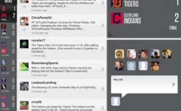 Sportstream is an app which allows users to  interact with other fans watching a sporting event through social media (Image: pandodaily.com)