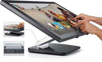 Dell, multitouch display, Dell S2340T, Dell TP713, wireless touchpad, Windows 8