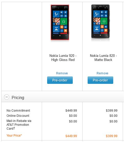 Lumia 820, Lumia 920, AT&T, unlocked