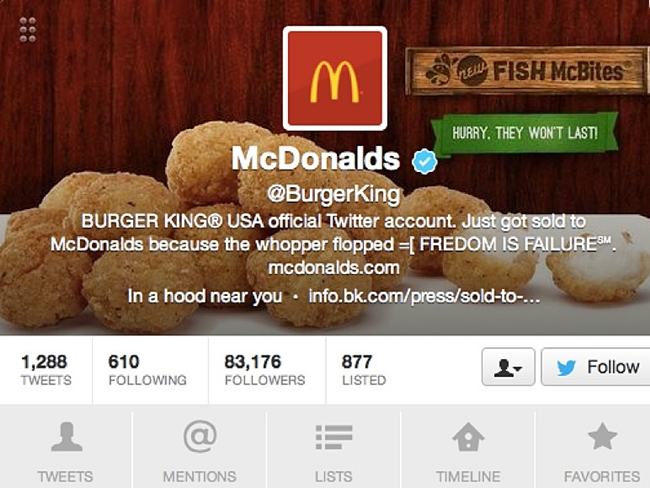 Hacked, Twitter, Burger King, Jeep, Anonymous
