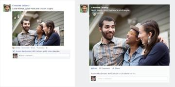 larger photos News Feed redesign