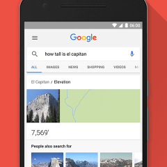 Google's new search features that lets you call, text and email contacts from search results